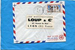 Marcophilie-Haute Volta--lettre>Françe-cad-Koudougou-1963--stamps N°105 Jeux D'abidjan-course Cycliste - Haute-Volta (1958-1984)