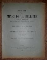 SOCIETE MINES DE LA BELLIERE Maine Et Loire Mine D'or Rapport AG 1927 - Usines & Industries