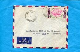 Marcophilie-Haute Volta--lettre>Françe-cad-PO - 1965--stamps N°A4 Air Afrique - Haute-Volta (1958-1984)