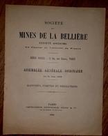 SOCIETE MINES DE LA BELLIERE Maine Et Loire Mine D'or Rapport AG 1928 - Usines & Industries