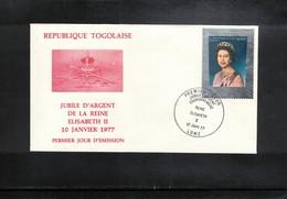 Togo 1977 Queen Elisabeth II Silver Jubilee FDC - Emissions Communes