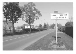 SAINT-TRIVIER-DE-COURTES - Panneau Entrée - France