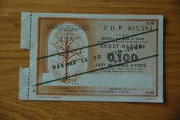 Rationnement - Bon Billet Matiere D 0,100 Bois - Historische Documenten