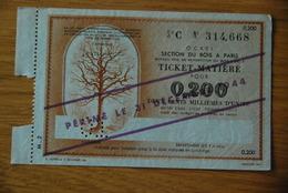 Rationnement - Bon Billet Matiere C 0,200 Bois - Historische Documenten