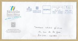 Enveloppe Neuville-Saint-Rémy (59) Empreinte Mécanique écopli 15-01-2020 0,82€ Petite-Forêt Gd Nord 2scans - Marcophilie (Lettres)
