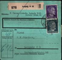 ! 1943 Paketkarte Deutsches Reich,  Leipzig, Zusammendrucke - Covers & Documents