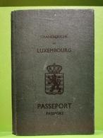 Luxembourg, Passeport 1948 - Historische Documenten
