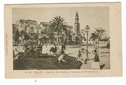 3651 - NAPOLI GIARDINI DEL POPOLO E CAMPANILE DEL CARMINE ANIMATA 1910 CIRCA - Napoli