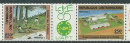 Centrafricaine N° 694Aa XX Philexafrique III, Exposition Philatélique Inter. à Lomé,  Le Triptyque  Sans Ch., TB - Centrafricaine (République)