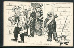 CPA POLITIQUE SATIRIQUE - Illustrateur A. Rouilly - 3 Juin 1902 - La Comédie Est Terminé... Sortez!!! - Satirische