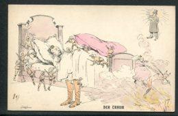 CPA POLITIQUE SATIRIQUE - Illustrateur - Singfrau - Der Traum - Caricature - Satirische