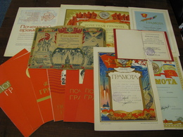 USSR Soviet Russia A Set Of USSR Certificates To Shevchenko Ninel Abramovna Nikolaev 25 Pieces 1945 - 1990 Rare - Documents