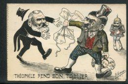 CPA POLITIQUE SATIRIQUE - Illustrateur Marmonier -  Théophile Rend Son Tablier - Caricature - Satirische