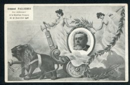CPA POLITIQUE SATIRIQUE - Illustrateur Marmonier -  1906 - Armand Fallières - Caricature - Satirische