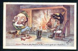 CPA POLITIQUE SATIRIQUE - Illustrateur Renefrebet - Gaga - Caricature - Satirische