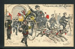 CPA POLITIQUE SATIRIQUE - Illustrateur Fercham - Départ De Mr Lépine - Caricature - Satirische
