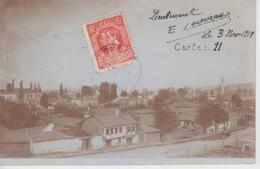 CP Photo Uskub / Skopie / Skopje (Un Quartier De La Ville) - (texte Intéressant Au Verso) - Mazedonien