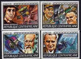 """Centrafricaine N° 706 / 09 XX """"Espace'85"""", Engins Spatiaux Et Portraits,  La Série Des 4 Valeurs Sans Charnière, TB - Centrafricaine (République)"""