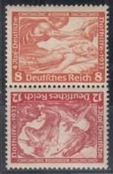 DR SK 20, Postfrisch *, Nothilfe: Wagner 1933 - Se-Tenant