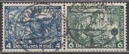 DR  W 49, Gestempelt, Nothilfe: Wagner 1933 - Se-Tenant