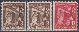 DR 598 X+y-599, Postfrisch **, Marsch Zur Feldherrnhalle 1935 - Germany