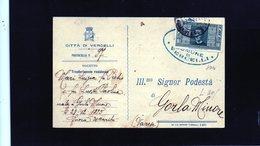 CG10 Italia - Cartolina Postale Da Vercelli X Gorla Min. 22/9/1932 -  Bollo Del Comune Di Vercelli - 1900-44 Vittorio Emanuele III