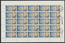 DJIBOUTI POSTE AERIENNE N° 155 Et 156 SERIE DE 2 FEUILLES COMPLETES DE 25 EXEMPLAIRES COTE 37,50 EUROS NAVETTE SPACIALE - Space