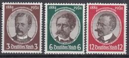 DR 540-542 Yxy, Postfrisch **, Kolonialforscher 1934 - Neufs