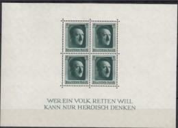 DR Block 7, Postfrisch **, 48. Geburtstag AHs 1937 - Duitsland
