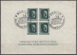 DR Block 8, Gestempelt: Berlin Geburtstag 20.4.1937, Nat. Briefmarkenausstellung 1937 - Duitsland