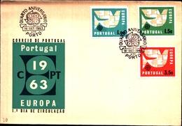 92716A) PORTOGALLO EUROPA 1963 FDC - FDC