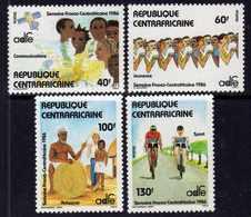Centrafricaine N° 726 / 29 XX Semaine Franco-centrafricaine,  La Série Des 4 Valeurs Sans Charnière, TB - Centrafricaine (République)