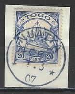 Togo  Mi 10 O Nuatya - Colonie: Togo