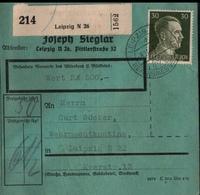 ! 1942 Paketkarte Deutsches Reich,  Leipzig, Zusammendrucke - Covers & Documents