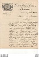 GRAND HOTEL DE LONDRES L.GUILLOT A COGNAC  .......... CORRESPONDANCE COMMERCIALE DE 1901 - Sport & Turismo