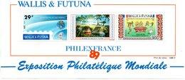 "Wallis & Futuna - Bloc Feuillet ""  Exposition Philatélique Mondiale "" PhilexFrance 89  (neuf) - Blocks & Kleinbögen"
