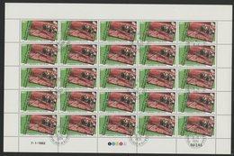 DJIBOUTI POSTE AERIENNE N° 163 FEUILLE COMPLETE DE 25 EXEMPLAIRES COTE 37,50 EUROS 180 Fr SONDE SUR MARS ET VIKING - Space