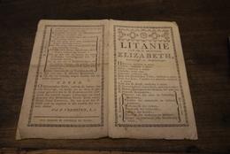 1820'  Litanie  Princesse Elizabeth Brugge Drukkerij De Moor - Documents Historiques