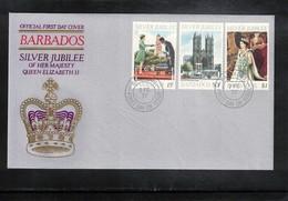 Barbados 1977 Queen Elisabeth II Silver Jubilee FDC - Emissions Communes