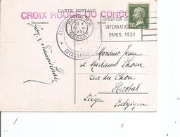 France ( CP De 1931 De Paris Vers La Belgique à Voir) - Lettres & Documents