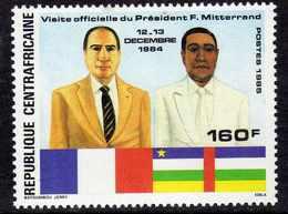 Centrafricaine N° 730 XX Anniversaire De La Visite Du Président Mitterrand,  Sans Charnière, TB - Centrafricaine (République)