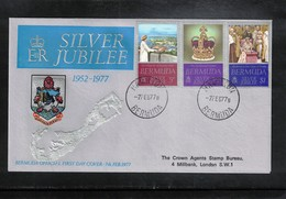 Bermuda 1977 Queen Elisabeth II Silver Jubilee FDC - Emissions Communes