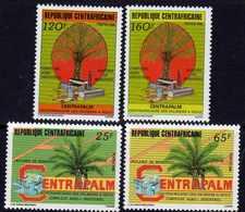 """Centrafricaine N° 731 / 34 XX """"Centapalm"""", La Série Des 4 Valeurs Sans Charnière, TB - Centrafricaine (République)"""