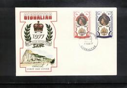 Gibraltar 1977 Queen Elisabeth II Silver Jubilee FDC - Emissions Communes