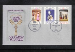 Solomon Islands 1977 Queen Elisabeth II Silver Jubilee FDC - Emissions Communes