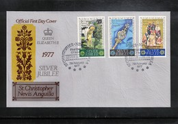 St. Christopher Nevis Anguilla 1977 Queen Elisabeth II Silver Jubilee FDC - Emissions Communes