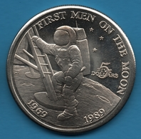 MARSHALL ISLANDS 5 Dollars 1989 KM# 13 FIRST MEN ON THE MOON - Marshall Islands