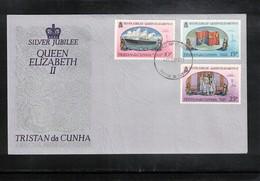 Tristan Da Cunha 1977 Queen Elisabeth II Silver Jubilee FDC - Emissions Communes