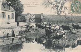 Rare Cpa Meudon Intérieur De La Ferme De Villacoublay - Autres Communes