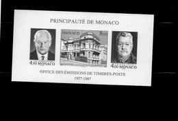 """Monaco -  Bloc Feuillet  """" Office Des Emissions De Timbres Poste """"  Neuf Non Dentelé - Blocks & Kleinbögen"""